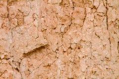 Lo sfondo naturale del terreno argilloso ha tagliato la costa fotografia stock