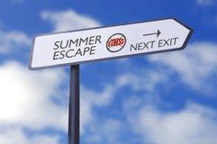 Lo sforzo di fuga dell'estate libera Fotografia Stock
