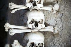 Lo sguardo della morte rimane per secoli Fotografie Stock