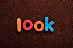 Lo sguardo di parola fotografie stock