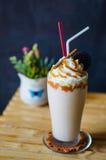 Lo sheck del latte di banoffee Fotografia Stock