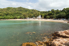 Lo So Shing Beach at the Lamma Island in Hong Kong Royalty Free Stock Image