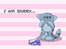 Lo siento? Foto de archivo