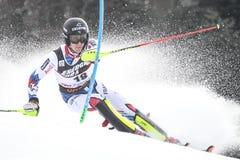 Lo slalom degli uomini del trofeo 2019 della regina della neve immagine stock