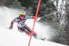 Lo slalom degli uomini del trofeo 2019 della regina della neve fotografie stock