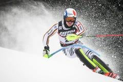 Lo slalom degli uomini del trofeo 2019 della regina della neve immagine stock libera da diritti