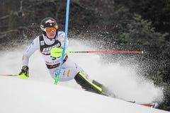 Lo slalom degli uomini del trofeo 2019 della regina della neve fotografie stock libere da diritti
