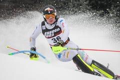 Lo slalom degli uomini del trofeo 2019 della regina della neve fotografia stock
