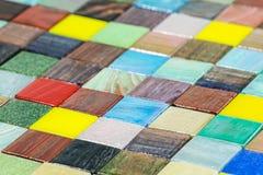 Lo smalt di vetro multicolore piastrella il fondo del mosaico Fotografia Stock Libera da Diritti