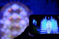 Lo Smart Phone ed il concerto Fotografia Stock Libera da Diritti