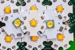 Lo smd potente ha ingannato il circuito di alluminio della stella Immagine Stock Libera da Diritti