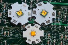 Lo smd potente ha ingannato il circuito di alluminio della stella Fotografie Stock