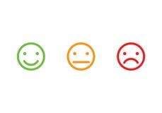Lo smiley affronta le icone Fotografia Stock Libera da Diritti