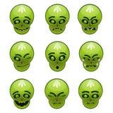 Lo smiley verde del mostro Fotografie Stock Libere da Diritti