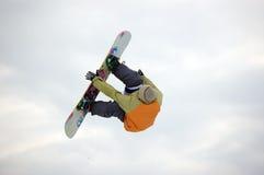 Lo Snowboard libera lo stile Fotografia Stock