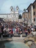 Lo Spagnolo fa un passo Roma Immagine Stock