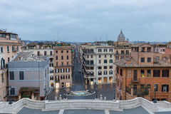 Lo Spagnolo fa un passo Roma, Italia fotografie stock