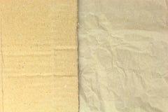 Lo spazio in bianco riciclato ha sgualcito la carta ed il cartone sulla cima Fotografia Stock
