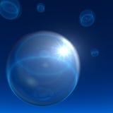 Lo spazio bolle priorità bassa con la stella di notte Fotografia Stock