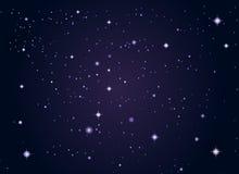 Lo spazio cosmico stars la priorità bassa Immagini Stock Libere da Diritti