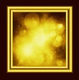 Lo spazio dorato Immagini Stock