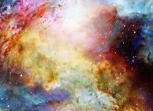 Lo spazio e le stelle cosmici, colorano il fondo astratto cosmico illustrazione di stock