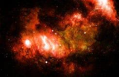 Lo spazio e le stelle cosmici, colorano il fondo astratto cosmico Collage del computer da pittura originale illustrazione vettoriale