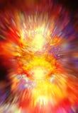 Lo spazio e le stelle cosmici, colorano il fondo astratto cosmico effetto crystalic di esplosione illustrazione vettoriale