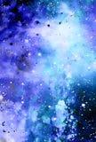 Lo spazio e le stelle cosmici, colorano il fondo astratto cosmico Effetto di inverno illustrazione di stock
