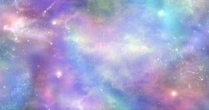 Lo spazio non è solo scuro e profondo inoltre è riempito di luce celeste e di colore Fotografia Stock