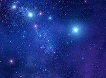 Lo spazio stars l'illustrazione del fondo Immagini Stock