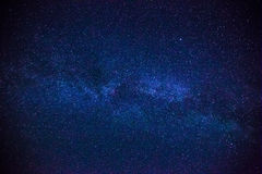 Lo spazio variopinto ha sparato la mostra della galassia della Via Lattea dell'universo con le stelle Fotografia Stock