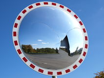 Lo specchio convesso si è frantumato Fotografia Stock Libera da Diritti