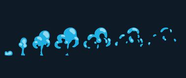 Lo specchio d'acqua di Sprite spruzza Animazione per il gioco o il fumetto Fotografia Stock