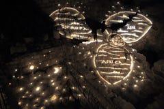 Lo spettacolo di luci alla torre di David Immagine Stock Libera da Diritti