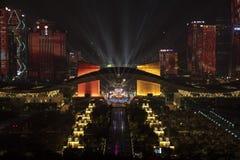 Lo spettacolo di luci concentrare civile fotografie stock libere da diritti