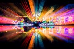 Lo spettacolo di luci sul festival di lanterna cinese fotografia stock