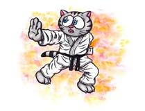 Lo spirito di combattimento del gattino di karatè il potere di Karatè-fa, 2017 Fotografia Stock