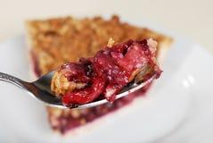 Lo Spoonful ha mescolato il grafico a torta della briciola della frutta fotografia stock libera da diritti