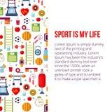 Lo sport è la mia illustrazione stabilita di vita Fotografia Stock Libera da Diritti