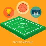 Lo sport è progettazione concettuale della medicina Fotografie Stock Libere da Diritti