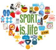 Lo sport è vita fotografia stock libera da diritti