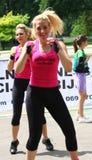 Lo sport delle donne Immagini Stock