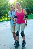 Lo sport pattina addestramento Fotografie Stock Libere da Diritti
