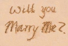 Lo sposerete? Fotografie Stock