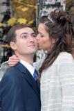 Lo sposo e la sposa Fotografia Stock Libera da Diritti