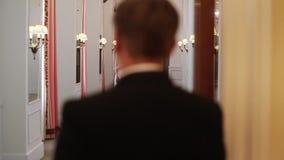 Lo sposo viene alla sposa in palazzo video d archivio