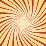 Lo sprazzo di sole ha torto rosso e giallo nella retro illustrazione di stile immagini stock