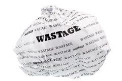 Lo spreco è egualmente una perdita di immagini stock