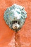 Lo spruzzatore della testa del leone di re Fotografia Stock